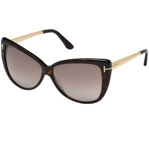 Tom Ford Sunglasses Dark Havana w/Brown Mirrored